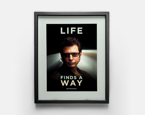 Life Finds a Way Poster Large - Jurassic Park, Ian Malcolm, Jeff Goldblum