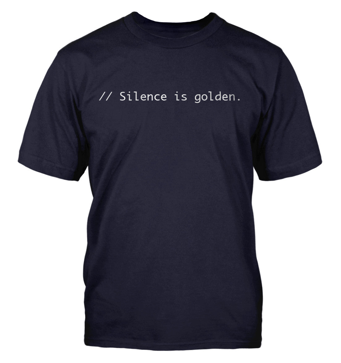 Silence is golden. t shirt for programmer and Wordpress lovers
