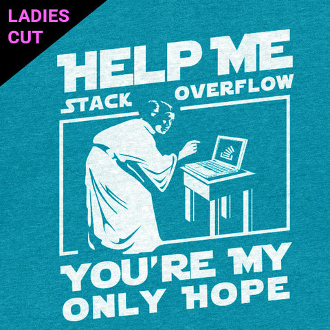 Princess Leia - Stack Overflow Parody Programmer T-Shirt Ladies Cut