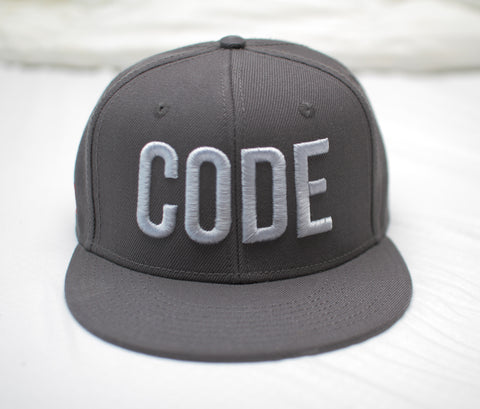 Code Adjustable Snap Back Hat codeAddict