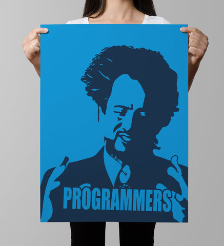 Dark Blue Light Blue Geeky Because Programmers Ancient Aliens Parody Meme Poster codeAddict