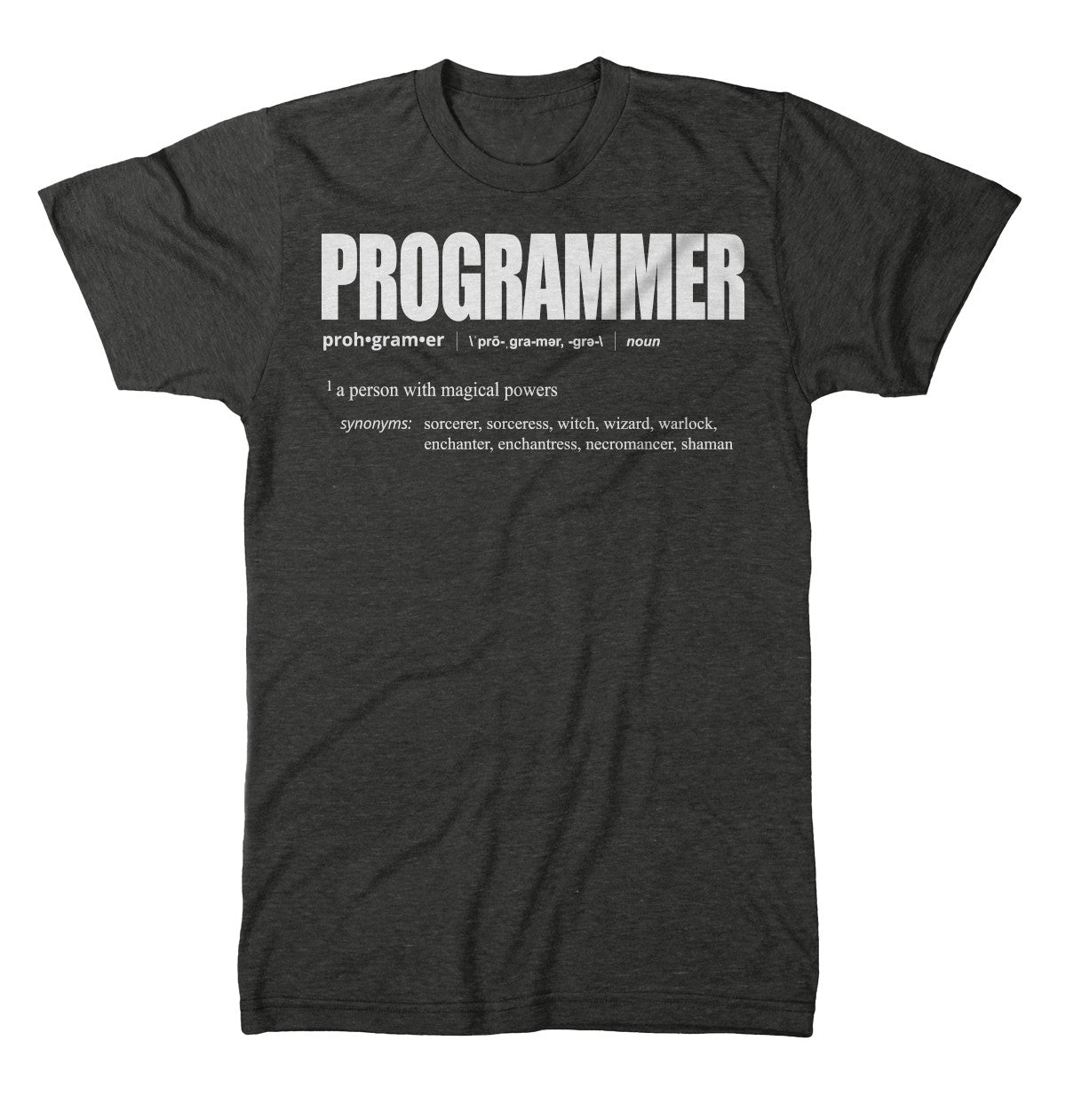 Programmer Definition T shirt Heather Dark Grey codeAddict