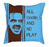 Brown Baby Blue All Code No Play Comfy Pillow codeAddict Other Side