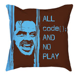 Brown Baby Blue All Code No Play Comfy Pillow codeAddict