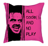 Pink Black All Code No Play Cushy Pillow codeAddict Other Side