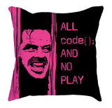 Pink Black All Code No Play Cushy Pillow codeAddict
