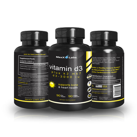 Vitamin D3 with Vitamin K2 MK-7