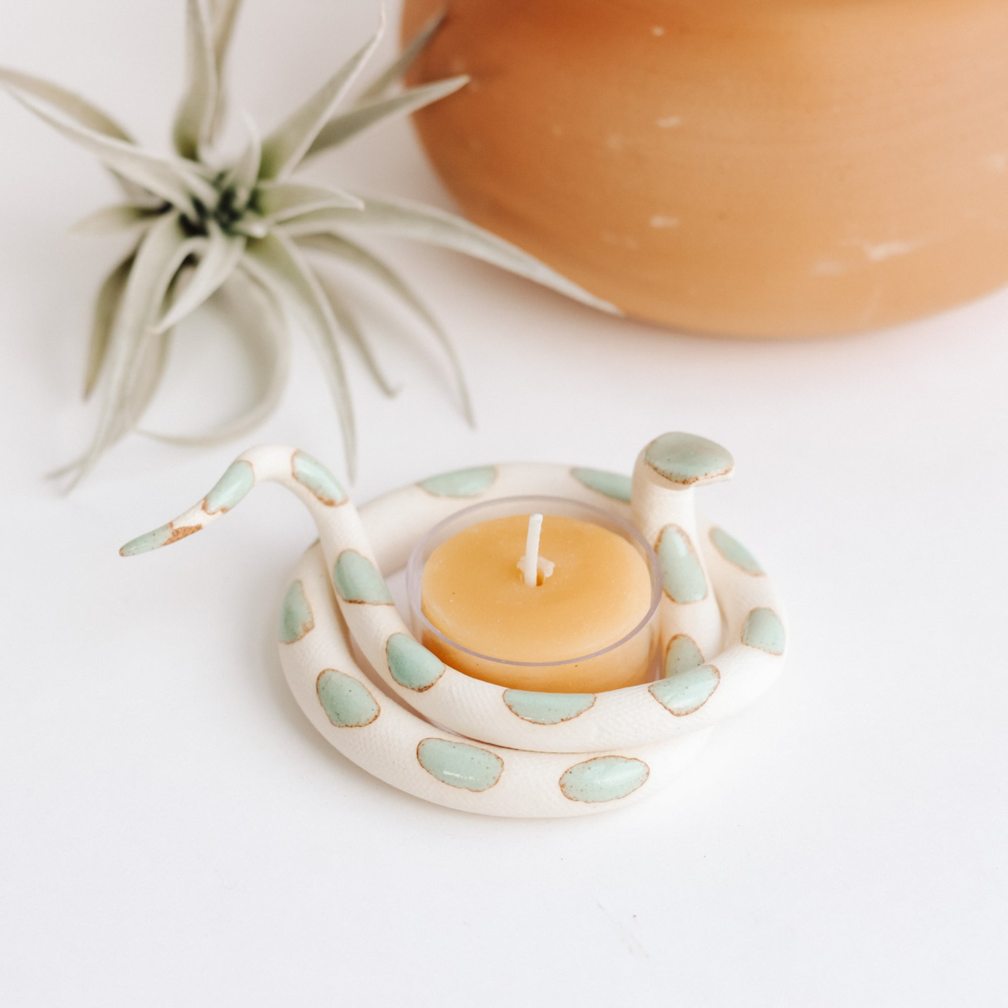 Carter & Rose, Ceramic Snake Tealight Holder