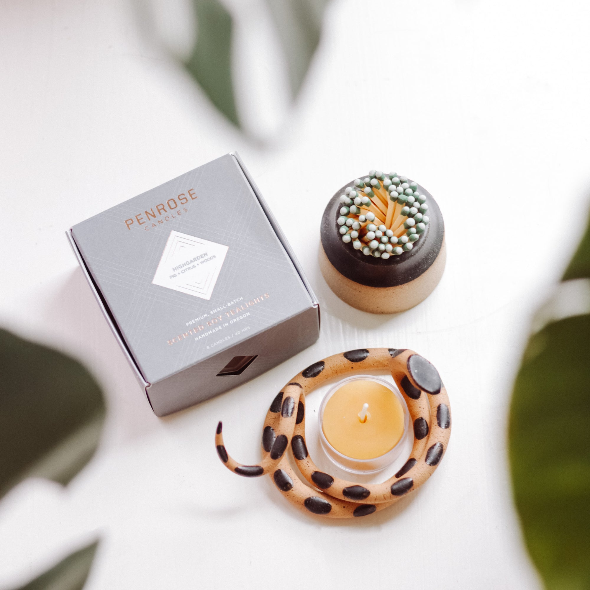 Snake & Tealight Gift Box