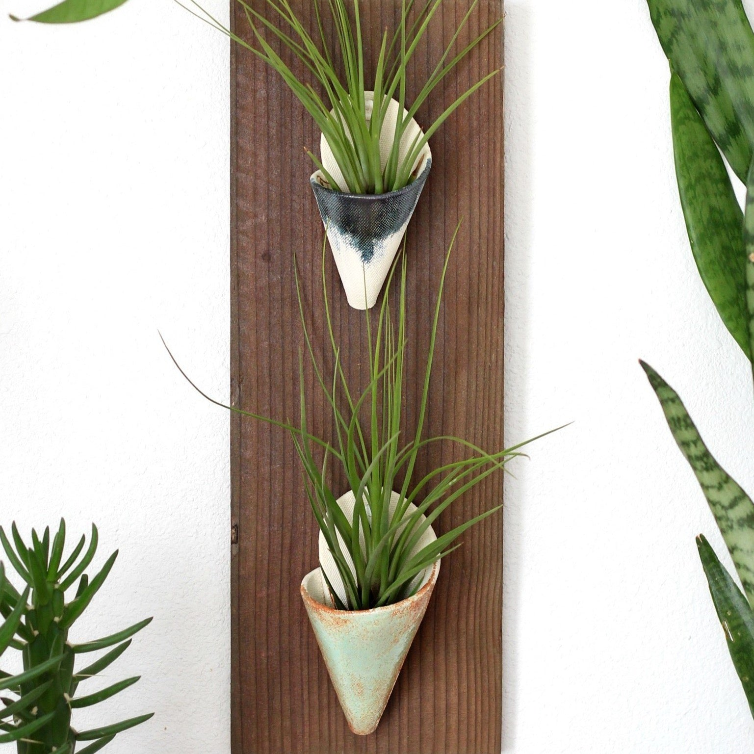 Carter & Rose, Stained Cedar Wall Planter