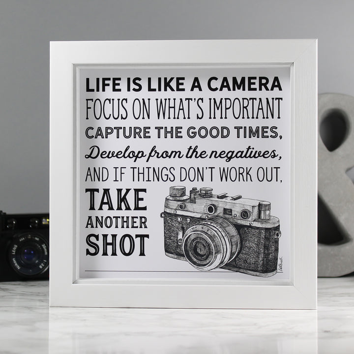 'Life is like a camera' art print