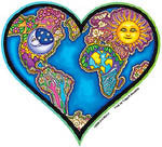 Earth Heart Sticker