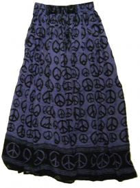 Purple Peace Signs Skirt