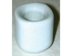 White Ceramic Chime Candle Holders
