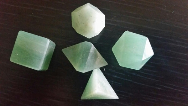 Aventurine Geometry Set In Wood Box