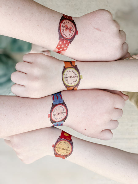 Emergency Contact Temporary Tattoo Watches