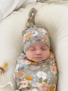 Set: Orchard Swaddle + Top Knot Hat