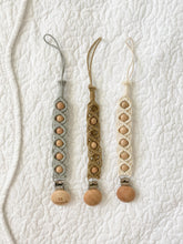 Load image into Gallery viewer, Macrame Pacifier Clip : Beaded