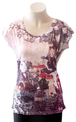 Tea with Alice Burnout Tee