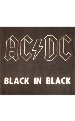 ACDC Back In Black Rock Tee