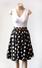 Black Megadot Circle Skirt