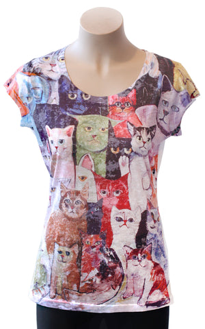 All the Cats! Burnout Tee