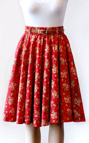 Country Roses Circle Skirt