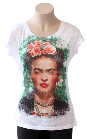Frida Kahlo Burnout Tee