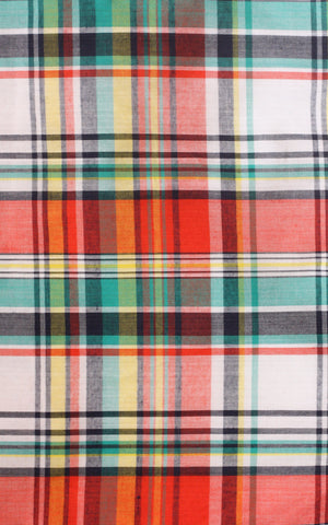 Madras Checked Circle Skirt