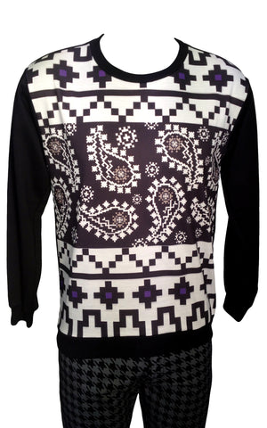 Paisley Power Print Sweatshirt