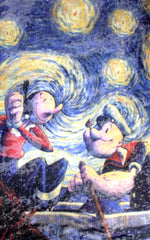 Popeye And Olive A Starry Night