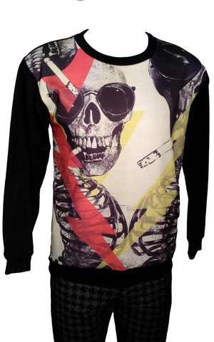 Smoking's Dead Cool Print Sweatshirt