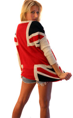 Union Jack Slouch Sweater