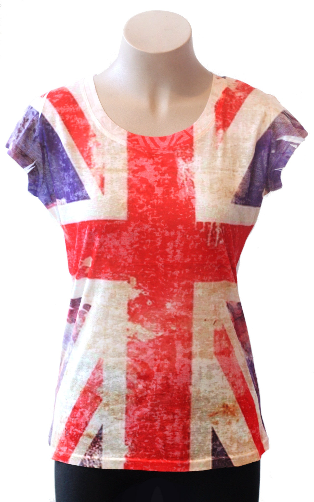 Union Jack Burnout Tee