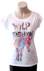 Wild Fashion Zebra Burnout Tee