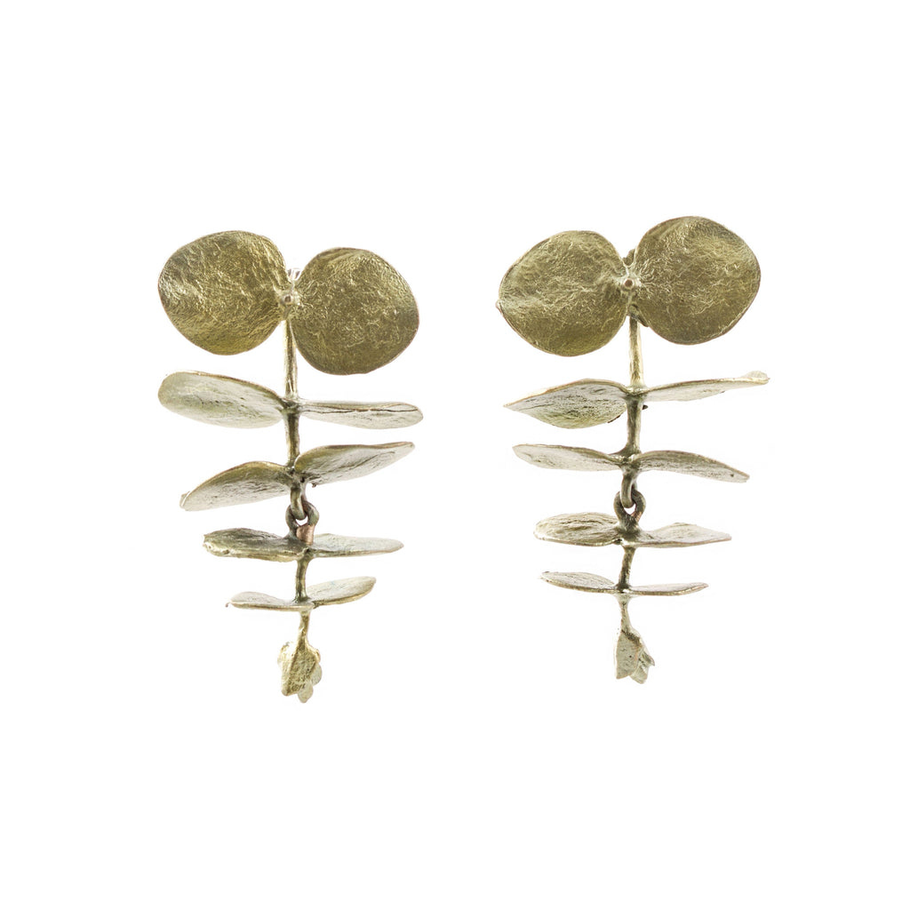MICHAEL MICHAUD - Round Eucalyptus Dangle Post Earrings