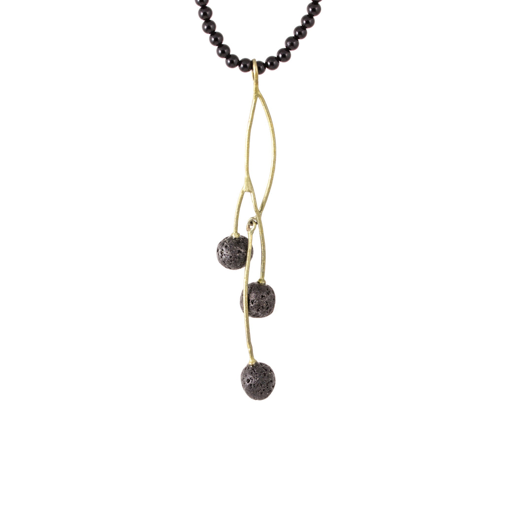 Michael Michaud - Blackcurrant Twisted Pendant Necklace