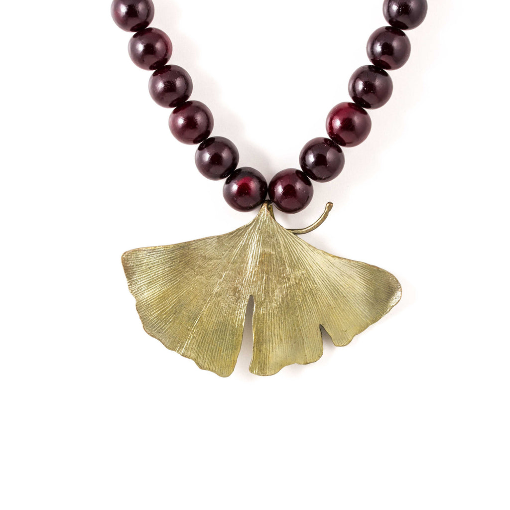 Michael Michaud - Bold Gingko Pendant Necklace