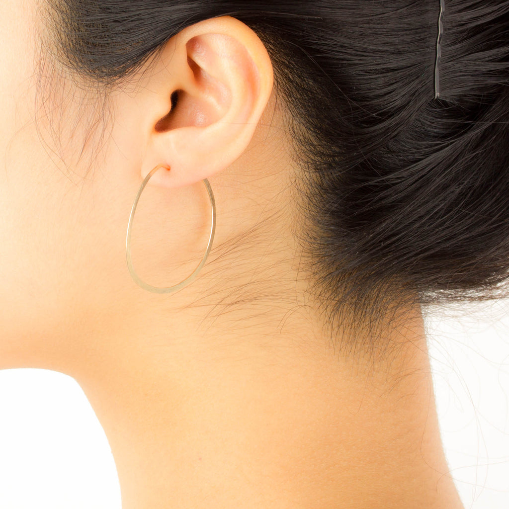Jessica Decarlo - Medium Hammered Hoops