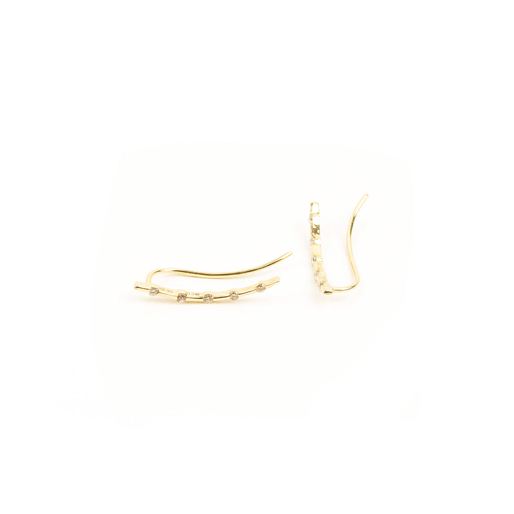 NFC - Diamond Climbers Earring in Yellow Gold