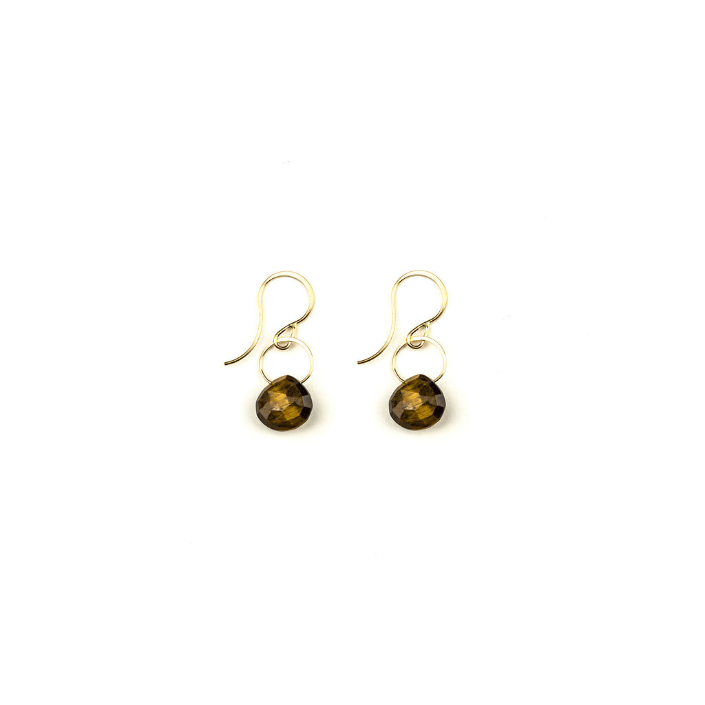 Melissa Joy Manning - Tiger's Eye Drop Earrings