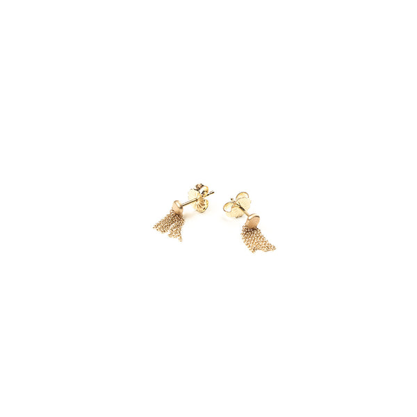 CARLA CARUSO - Curtain Tassel Stud Earrings - Norbu