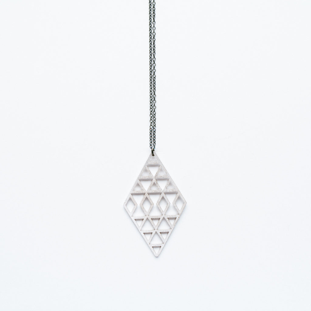 Molly M - Rhodium rhombus