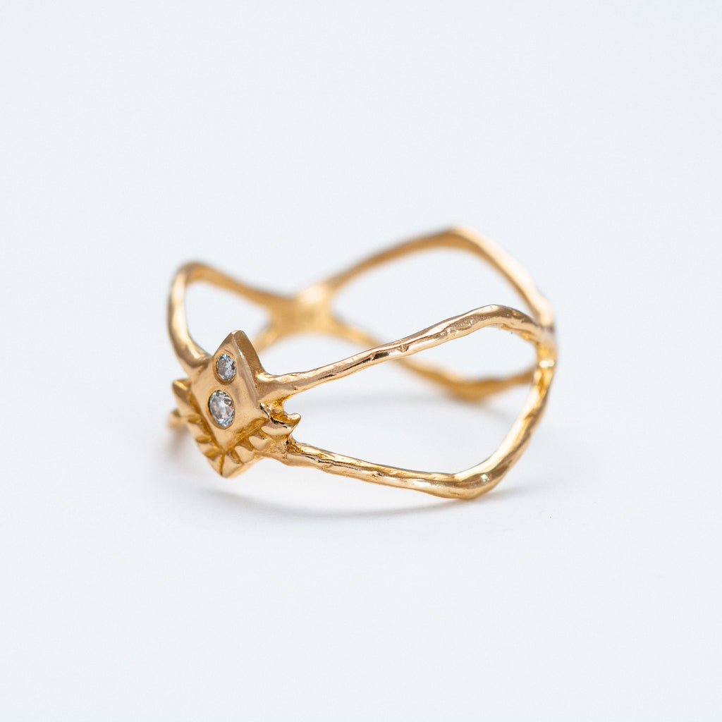 Lio + Linn - New Sanctuary Ring with Diamond