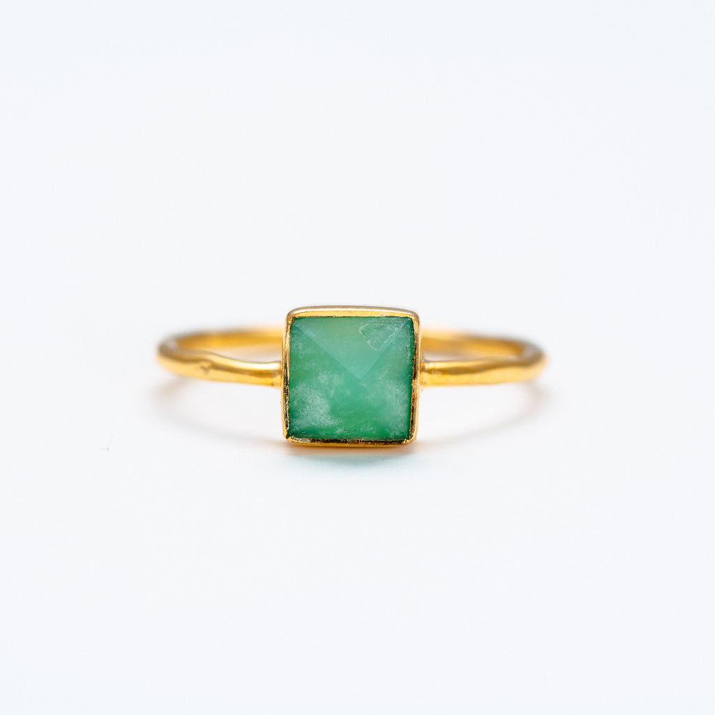 NSC - Chrysoprase Pyramid Ring