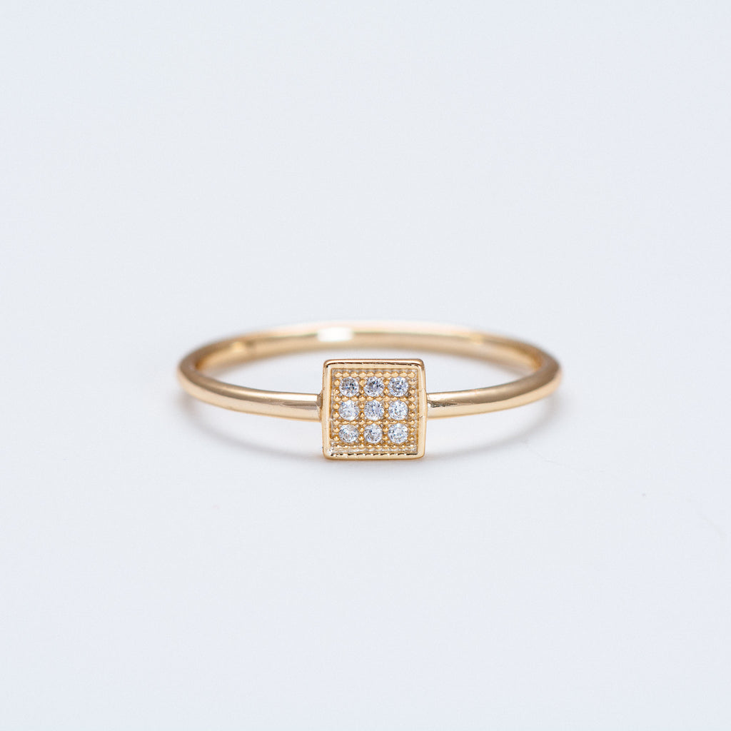 NSC - Square with CZ Ring