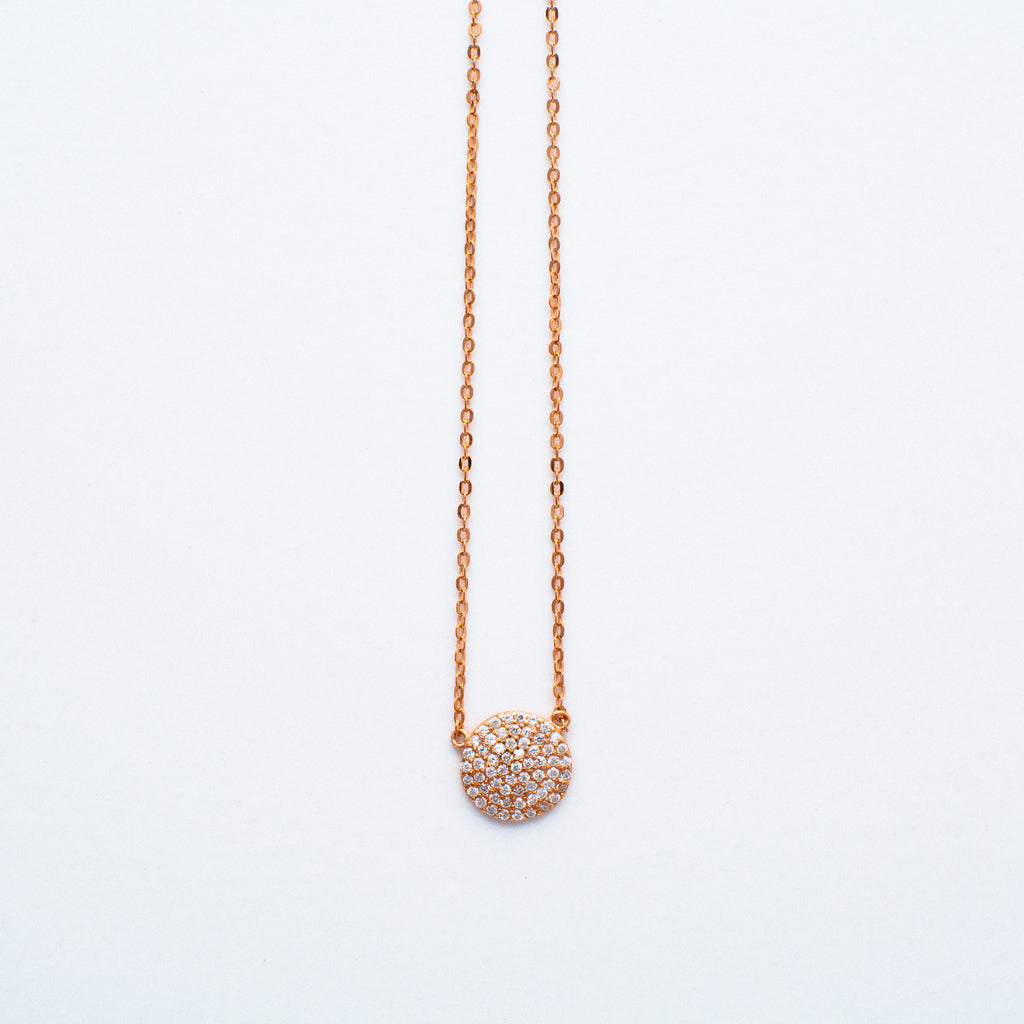 NSC - Pave Round Necklace
