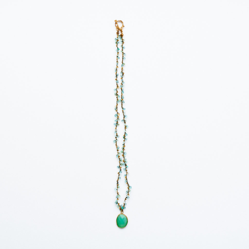 Swallow - Chrysoprase Necklace