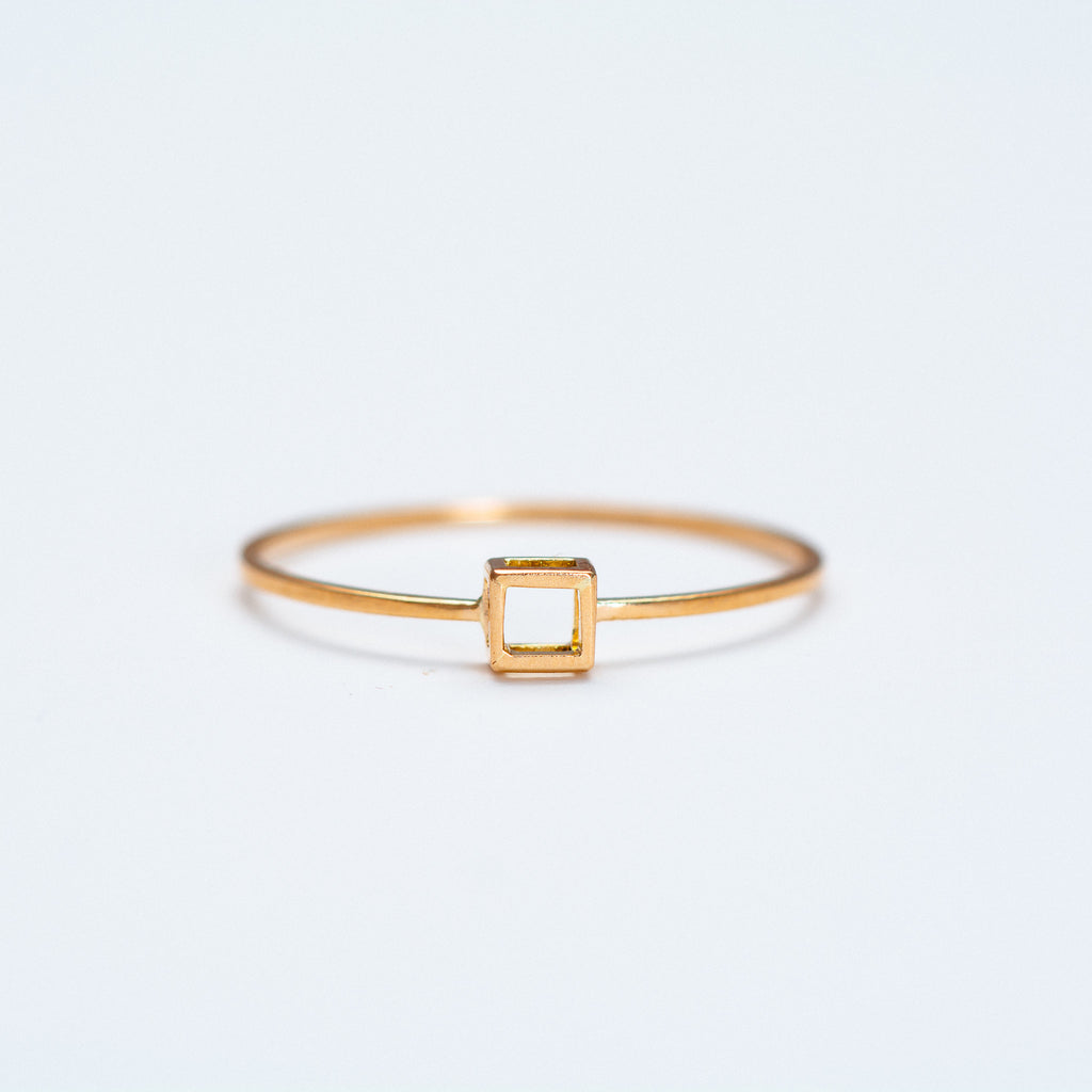 Mute Object - Plain Cube Ring