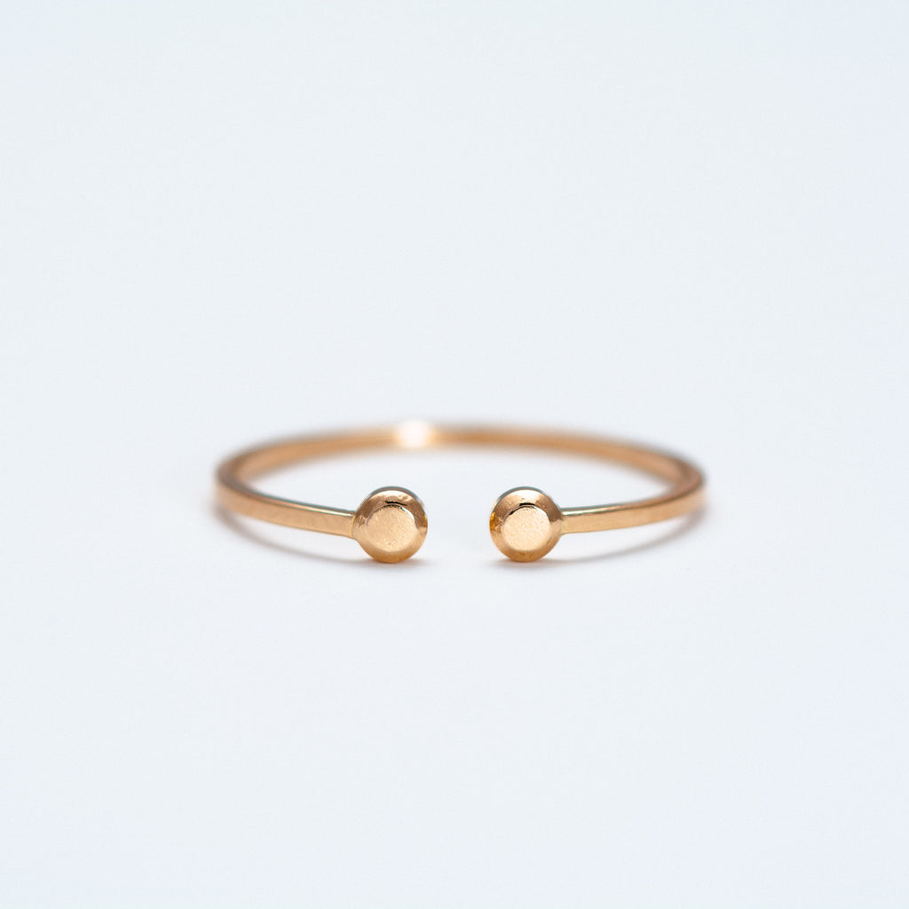 Mute Object - Two Flat Dots Ring